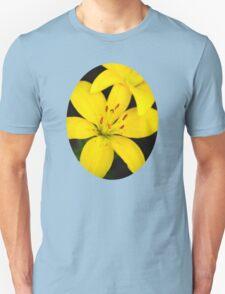 Yellow Lily Flower Art T-Shirt