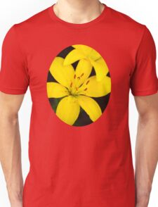 Yellow Lily Flower Art Unisex T-Shirt