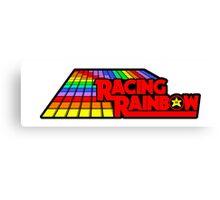Sticker! Racing Rainbow Canvas Print