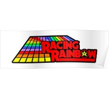 Sticker! Racing Rainbow Poster