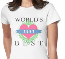 World's Best Aunt Womens Fitted T-Shirt