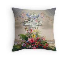 angelscrossfloral Throw Pillow