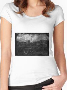 Tractors at the Fair Women's Fitted Scoop T-Shirt
