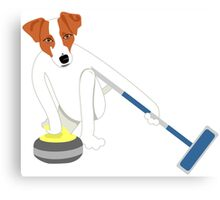 Jack Russell Terrier Curling Canvas Print