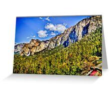 Tunnel view Yosemite, California, united states Greeting Card