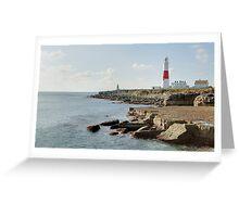 Portland Bill Lighthouse, Dorset, UK Greeting Card