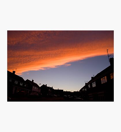 Fire Sky Orange Photographic Print