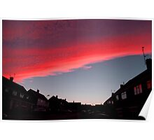 Fire Sky Pink Poster