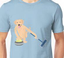 Golden Retriever Curling Unisex T-Shirt