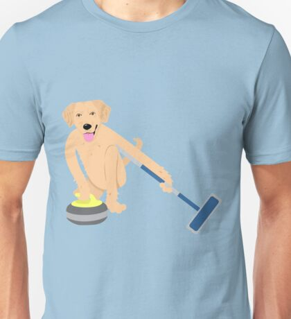 Golden Retriever Curling Unisex T-Shirt