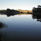 Daybreak on Still Water, Forth,Tasmania, Australia. by kaysharp