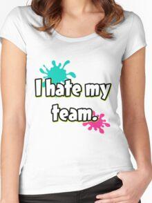 I hate my team (Splatoon) Women's Fitted Scoop T-Shirt