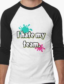 I hate my team (Splatoon) Men's Baseball ¾ T-Shirt