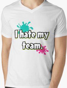 I hate my team (Splatoon) Mens V-Neck T-Shirt