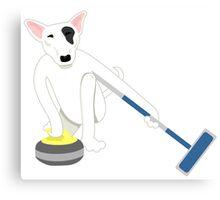 English Bull Terrier Curling Canvas Print