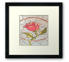 Stained Glass Window Rose Framed Print