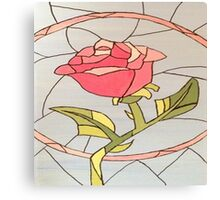 Stained Glass Window Rose Canvas Print