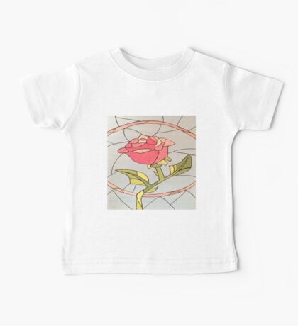 Stained Glass Window Rose Baby Tee