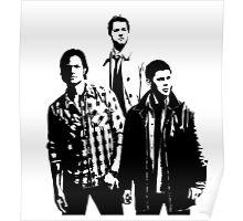 Sam, Dean and Castiel Winchester Poster