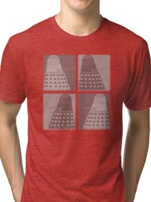 Daleks in negatives - brown Tri-blend T-Shirt