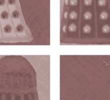 Daleks in negatives - brown Sticker