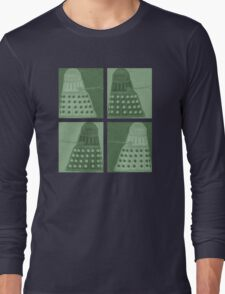 Daleks in negatives - green Long Sleeve T-Shirt