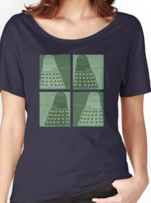 Daleks in negatives - green Women's Relaxed Fit T-Shirt