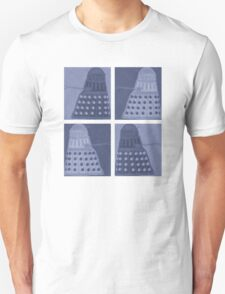 Daleks in negatives - blue Unisex T-Shirt