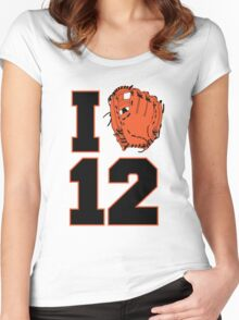 I Glove 12 Women's Fitted Scoop T-Shirt