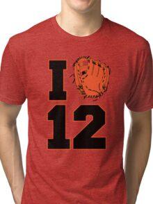 I Glove 12 Tri-blend T-Shirt