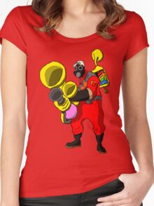 pixel pyro 1 (fanart) Women's Fitted Scoop T-Shirt