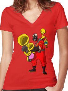 pixel pyro 1 (fanart) Women's Fitted V-Neck T-Shirt