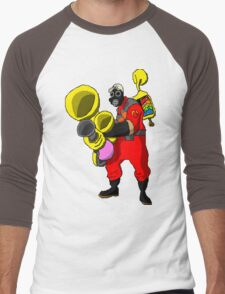 pixel pyro 1 (fanart) Men's Baseball ¾ T-Shirt