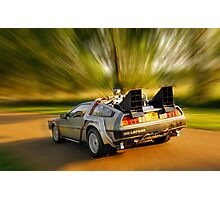 DELOREAN.... Back to the Future. Photographic Print