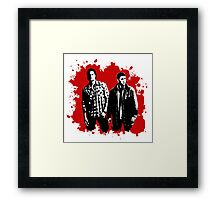 Sam and Dean Winchester on Red Framed Print
