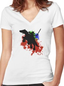 Link and Epona Women's Fitted V-Neck T-Shirt