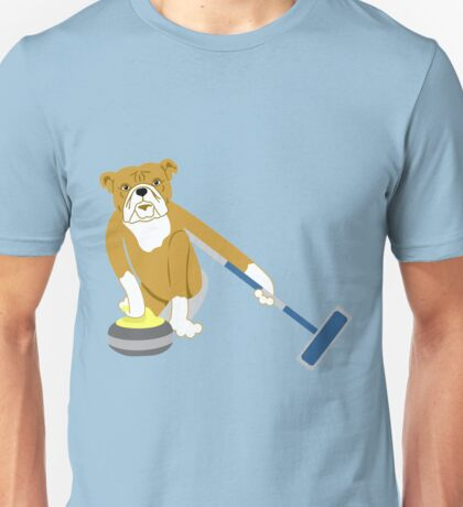 Bulldog Curling Unisex T-Shirt