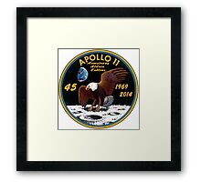 Apollo 11: 45th Anniversary Mission Patch Framed Print