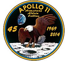 Apollo 11: 45th Anniversary Mission Patch Photographic Print