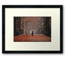 Riding in the magic of late autumn Framed Print