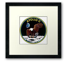 Apollo 11 Mission Patch Framed Print