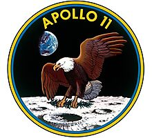 Apollo 11 Mission Patch Photographic Print