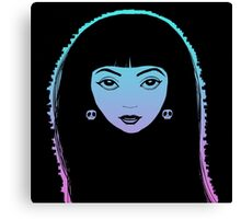 Girl with the Skull Earrings Canvas Print