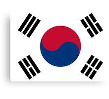 South Korea Flag Canvas Print