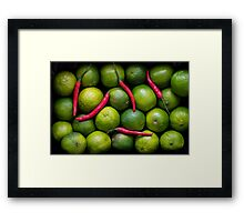 Hot Limes Framed Print