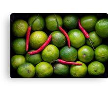 Hot Limes Canvas Print