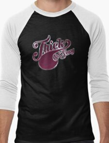 Thick & Sexy - Metallic Style Men's Baseball ¾ T-Shirt