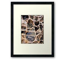 Rock footprint Framed Print