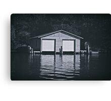 """Gray Boathouse"" Canvas Print"