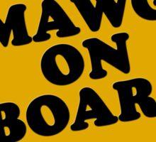 Mawg on Board Sticker